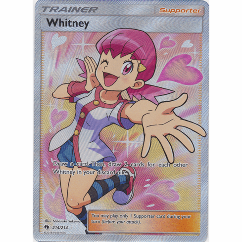 Whitney - 214/214 - Sun & Moon: Lost Thunder Full Art Ultra Rare