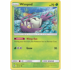 Wimpod 16/147 Common - Pokemon Sun & Moon Burning Shadows Card