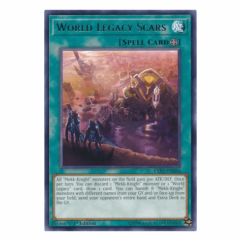 World Legacy Scars EXFO-EN056 Rare - YuGiOh Extreme Force
