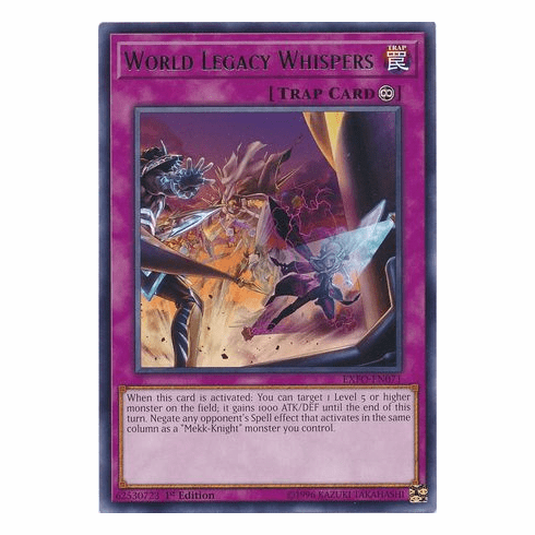 World Legacy Whispers EXFO-EN071 Rare - YuGiOh Extreme Force