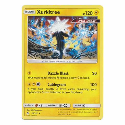 Xurkitree 39/131 Rare - Pokemon Sun & Moon Forbidden Light Card
