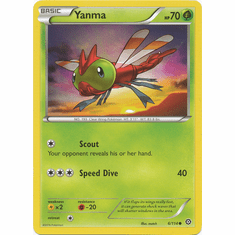 Yanma 6/114 Common - Pokemon XY Steam Siege Card