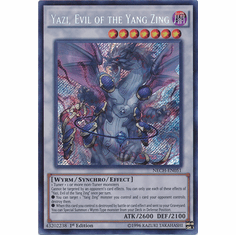 Yazi, Evil of the Yang Zing NECH-EN051 - Secret Rare The New Challengers Card