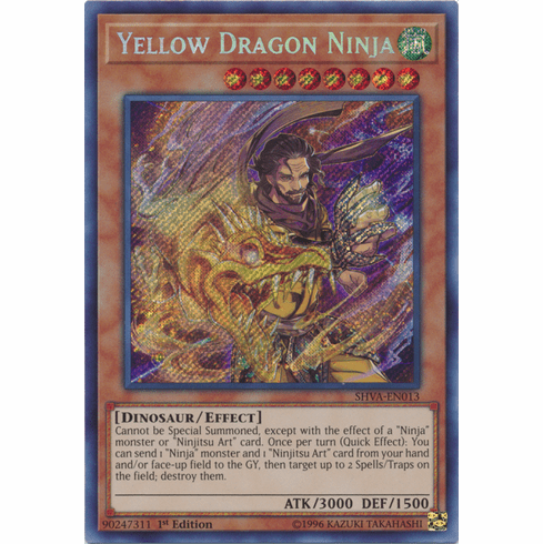 Yellow Dragon Ninja - SHVA-EN013 - Secret Rare