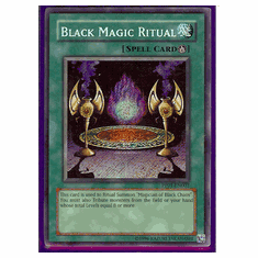 Yu-Gi-Oh Card Game Black Magic Ritual Secret Rare HoloFoil Card