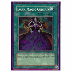 Yu-Gi-Oh Card Game Dark Magic Curtain Secret Rare HoloFoil Card