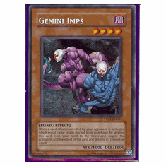 Yu-Gi-Oh Card Game Gemini Imps Secret Rare HoloFoil Card