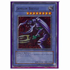 Yu-Gi-Oh Card Game Javelin Beetle Super Rare HoloFoil Card