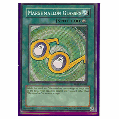 Yu-Gi-Oh Card Game Marshmallon Glasses Secret Rare HoloFoil Card