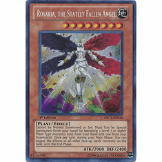YuGiOh 2012 Tin Card - Rosaria, the Stately Fallen Angel PRC1-EN016