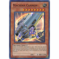 YuGiOh 2012 Tin Super Rare Promo Card - Machina Cannon PRC1-EN011