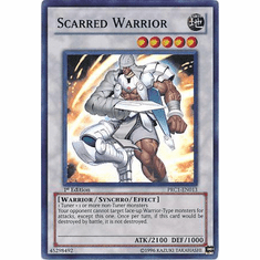 YuGiOh 2012 Tin Super Rare Promo Card - Scarred Warrior PRC1-EN013