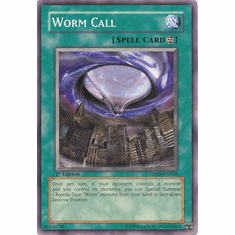 Yugioh 5D's Shining Darkness Single Common Worm Call Card