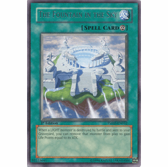 Yugioh 5D's Shining Darkness Single Rare The Fountain in the Sky Card