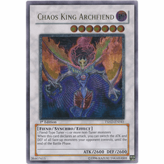 Yugioh 5D's Shining Darkness Single Ultra Rare Chaos King Archfiend Card