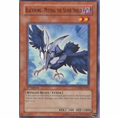 YuGiOh Ancient Prophecy Blackwing Mistral the Silver Shield ANPR-EN004 Common Single Card