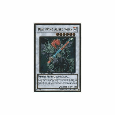 YuGiOh Blackwing Armed Wing Gold Rare Card (GLD3-EN039)