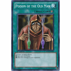 YuGiOh Dawn of the XYZ YS11-EN029 Common Card - Poison of the Old Man