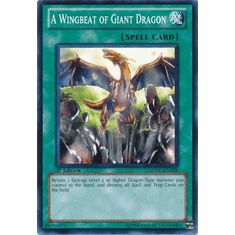 YuGiOh Dragons Collide Card - A Wingbeat of Giant Dragon SDDC-EN028