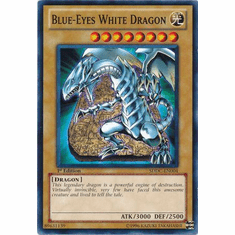 YuGiOh Dragons Collide Common Card Blue-ENo White Dragon SDDC-EN004