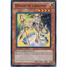 YuGiOh Dragons Collide Common Card - Herald of Creation SDDC-EN019