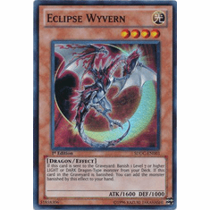 YuGiOh Dragons Collide Super Rare Card - Eclipse Wyvern SDDC-EN003