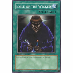 YuGiOh Gold Series 2 Common Card - Exile of the Wicked GLD2-EN034