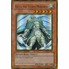 YuGiOh Gold Series 2 Raiza the Storm Monarch GLD2-EN026 Gold Rare Single Card