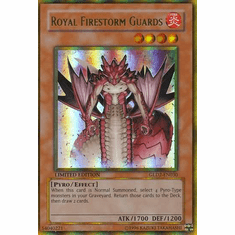 YuGiOh Gold Series 2 Royal Firestorm Guards GLD2-EN030 Gold Rare Single Card