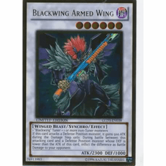 YuGiOh Gold Series 3 2010 Blackwing Armed Wing GLD3-EN039 Gold Rare Single Card