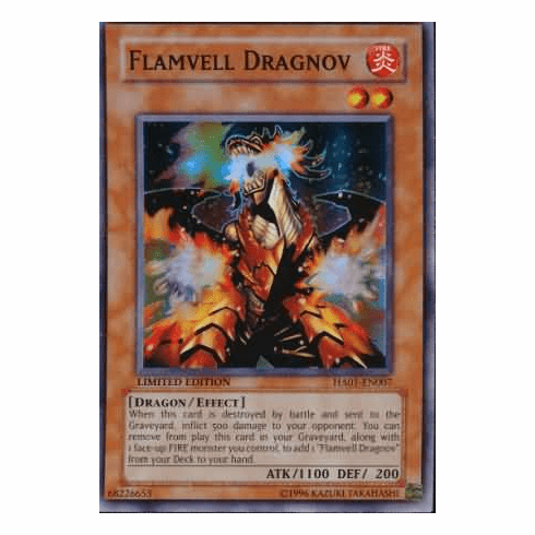 YuGiOh Hidden Arsenal 1 Flamvell Dragnov HA01-EN007 Super Rare Single Card