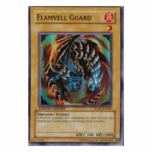 YuGiOh Hidden Arsenal 1 Flamvell Guard HA01-EN009 Super Rare Single Card