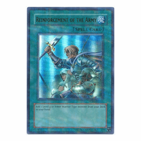 YuGiOh HL06-EN004 Ultra Parallel Rare Card - Reinforcement of the Army