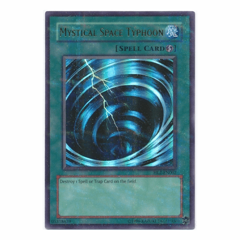 YuGiOh HL2-EN002 Ultra Parallel Rare Card - Mystical Space Typhoon