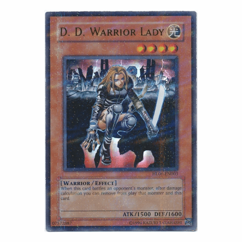 YuGiOh Hobby HL06-EN003 Ultra Parallel Rare Card - D.D. Warrior Lady