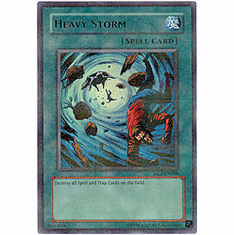 YuGiOh League HL2-EN004 Ultra Parallel Rare Card - Heavy Storm