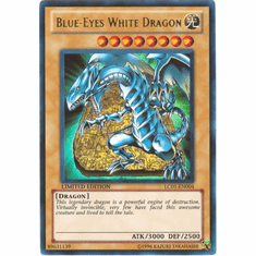 YuGiOh Legendary Collection Card - Blue-ENo White Dragon LC01-EN004