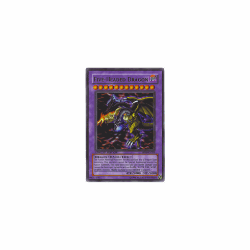 YuGiOh Promo Card - Dinosaurs Rage Five Headed Dragon SD09-ENSS1