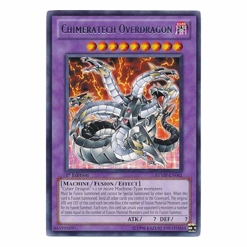 YuGiOh Ra Yellow Rare Card - Chimeratech Overdragon RYMP-EN061