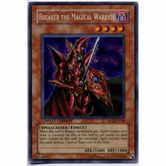 YuGiOh Secret Rare Promo Card - Breaker the Magical Warrior MC2-EN002
