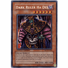 YuGiOh Secret Rare Promo Card - Dark Ruler Ha Des MC1-EN006