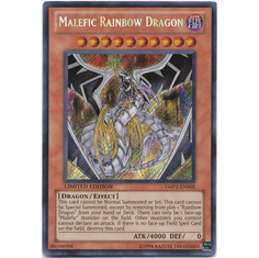 YuGiOh Secret Rare Promo Card - Malefic Rainbow Dragon YMP1-EN005