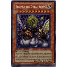 YuGiOh Secret Rare Promo Card - Theinen the Great Sphinx MC2-EN006