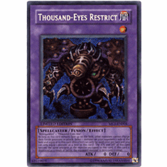 YuGiOh Secret Rare Promo Card - Thousand-ENo Restrict MC1-EN004