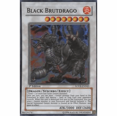 YuGiOh Stardust Overdrive Black Brutdrago SOVR-EN043 Super Rare Single Card