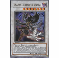 YuGiOh Stardust Overdrive Blackwing Silverwind the Ascendant SOVR-EN041 Ultra Rare Single Card