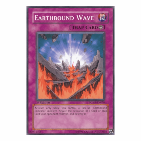 YuGiOh Stardust Overdrive Earthbound Wave SOVR-EN070 Common Single Card