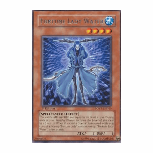 YuGiOh Stardust Overdrive Fortune Lady Water SOVR-EN010 Rare Single Card