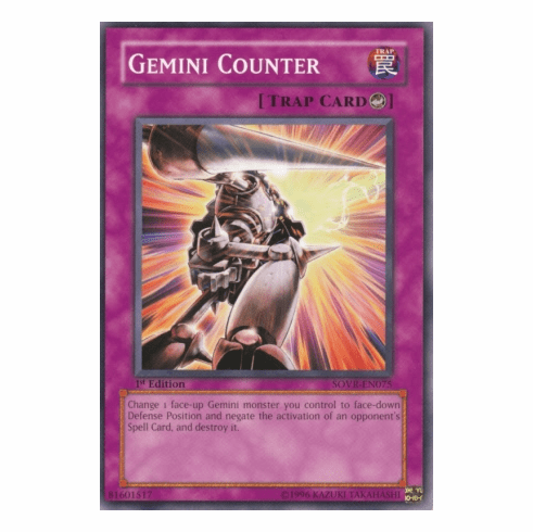YuGiOh Stardust Overdrive Gemini Counter SOVR-EN075 Common Single Card