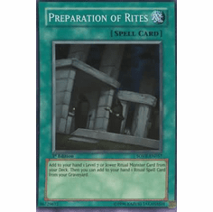 YuGiOh Stardust Overdrive Preparation of Rites SOVR-EN057 Super Rare Single Card